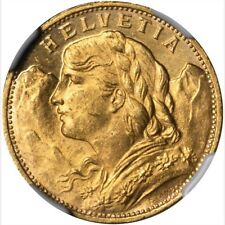 SWITZERLAND 1926-B  20 FRANCS GOLD COIN UNCIRCULATED CERTIFIED NGC MS64