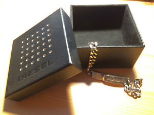 Diesel Armband silber Herren Edelstahl Design abgebrochener Verschluss