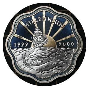 5 Dollars 2000 Bermuda 🇧🇲 Silver Coin / Elizabeth II Millennium # 116