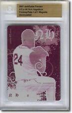 2007 Nick Hagadone Rookie Printing Press Plate RC BGS 1/1