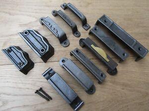 Cast Iron RIM LOCK KEEP Latch Striker Plate door keeps Victorian latch lock