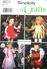 "Simplicity 9523 18"" Girl Doll Pattern Fairy Costumes Fancy Frocks Susan Payne"