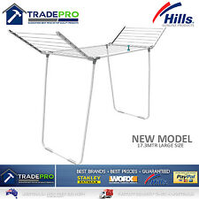 Hills Clothesline Airer Premium 2 Wing Family 17.3Mtr Portable Clothes Line