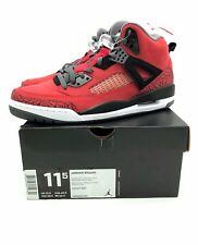 Air Jordan Spizike Mens 11.5 Toro Red New Extra Laces Rare 315371 601 DS Suede