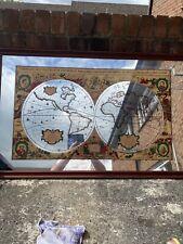 Strigrone Ltd 1982 Framed A New Accvrat Map Of The World Mirror 105cmx66.5cm