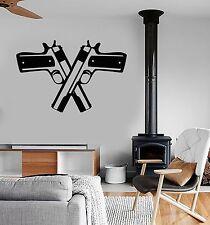 Vinyl Wall Decal Two Gun Weapon Mafia Stickers Mural (559ig)