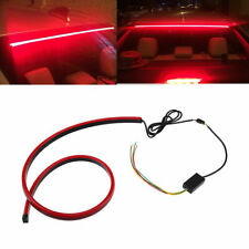 "Car Inner Rear Window High Position Brake Light Red LED 40"" Long silicone Strip"