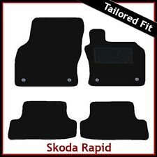 Skoda Rapid 2012 2013 2014 Hatchback Tailored Fitted Carpet Car Mats BLACK