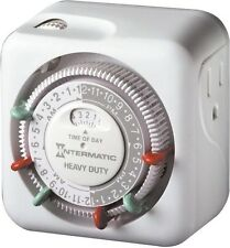 Intermatic TN311K Heavy Duty Plug In Timer, 15 Amps, White
