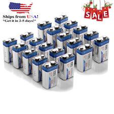 20pcs EBL 600mAh 9V Lithium-ion Rechargeable Batteries 6F22 9Volt High Volume US