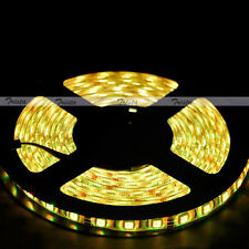 Yellow Waterproof 5M 300Leds 5050 LED Strip Light Lamp Flexible 12V White PCB #B