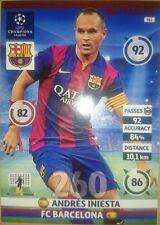 Andrés Iniesta Key Player 311 Barcelona Adrenalyn XL Champions League 2014 2015