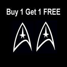 STAR TREK Federation Command Delta Symbol Logo vinyl Car Sticker Decal