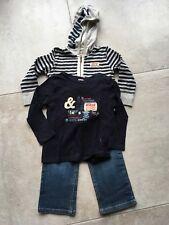 IKKS sweat à capuche garçon t-shirt et jeans Costume Âge 4-5 ans gris/marine