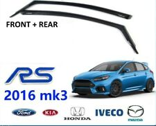 FORD FOCUS RS 2016 MK3 CLIMAIR WIND AIR DEFLECTORS DARK TINT Front and Rear
