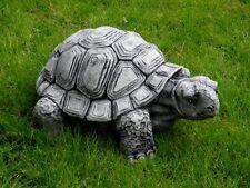 Steinfigur Tierfigur Schildkröte groß schwarz patiniert