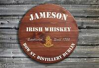Traditional Jameson Whiskey Barrel Style Wooden Pub Sign - Hand Made in Ireland