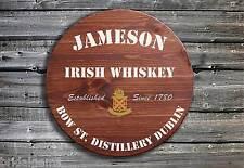 Tradizionale Jameson Whisky Parte Centrale End Di Legno Insegna Per Pub ☘ Mano