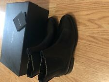 Paul Smith Black Leather Glitter Ankle Boots 38-NIB