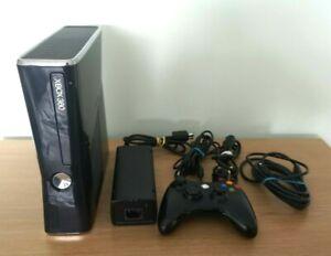 Microsoft Xbox 360S/Slim Console Black 1 Controller, Power & AV Cable