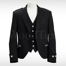 "NEW CUSTOM MADE SCOTTISH ARGYLE KILT JACKET WITH WAISTCOAT/VEST-SIZES 32"" to 52"""