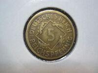 Deutsches Reich 5 Reichspfennig 1925 E   (451)