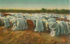 Postmark 1928 La Grande Priere Au Desert Postcard