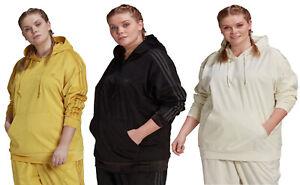 Adidas Women's Plus Size Velvet Corduroy Hoodie, Color Options