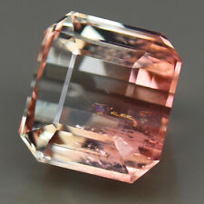 19.53ct.RARE GEMSTONE BI COLOR TOURMALINE CUSHION CUT NATURAL GEMSTONE VALUABLE