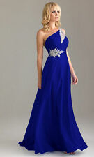 Long Chiffon Wedding Formal Evening Party Bridesmaid Ball Gown Dress Size 6-26