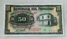 50 Pesos Paraguay 1923 XF