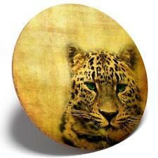 1 x Amazing Wild Leopard - Round Coaster Kitchen Student Kids Gift #8241