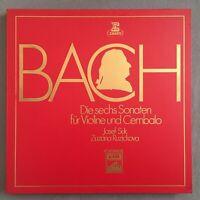 B399 Bach 6 Sonatas for Violin & Harpsichord Suk 2LP EMI 1 C 187-29525/26 Stereo