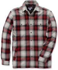 Carhartt Herren Hemdjacke Hubbard Sherpa Lined Shirt Jac Relaxed Fit Dark Crimso