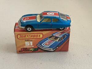 Matchbox Superfast No. 51 Citroen SM Square Rear Hatch Tampo Cream Interior Box