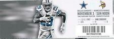 Minnesota Vikings Dallas Cowboys Full Unused Ticket 11/3/13 DeMarco Murray