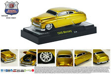 CANDY GOLD 1949 MERCURY GROUND POUNDER M2 MACHINES 1:64 SCALE DIECAST METAL CAR