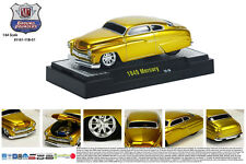 M2MACHINES 1:64 SCALE DIECAST METAL CANDY GOLD 1949 MERCURY GROUND POUNDER