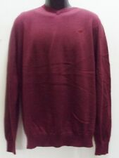 $50 FOX RACING MEN MR.CLEAN V NECK BURGUNDY SWEATER PULLOVER LARGE H75