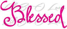 Blessed Vinyl Decal Sticker Christ Christian God Prayer Cross Vehicle Dove