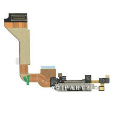 Charger Charging Dock Port Connector with Flex Cable for Apple iPhone 4 (Black)