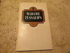 Vintage Guide To Museum Madame Tussauds London Wax Museum Rare