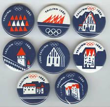 1980 Moscow Olympics Games SAILING Tallinn Pins Set 8
