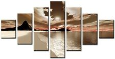Gruppo 7 Dimensione totale 160x90cm GRANDE STAMPA DIGITALE TELA Wall Art Elgin Marrone