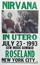 "Nirvana Concert Poster - 1993 - In Utero Tour - New Music Seminar - NYC 14""x22"""