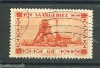 SARRE SAAR SAARGEBIET, 1930-32, timbre 140, PUITS DE MINE, oblitéré