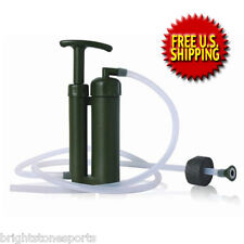 Portable Mini Soldier Water Filter for Hiking Camping Outdoor Survival Emergency