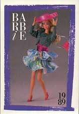 "Barbie Collectible Fashion Card "" Barbie Paris Pretty Fashions "" 1989"