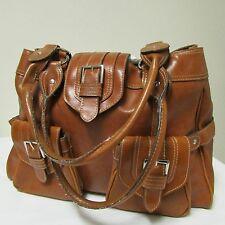 Large Beautiful Brown Satchel Shoulder Messenger Baguette Tote Bag