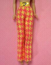 Vintage Barbie Clothes Check the Suit Yellow Pink Plaid Slacks Pants 1794 EXLNT